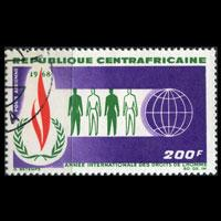 CENTRAL AFRICA 1968 - Scott# C52 Human Rights Set of 1 Used