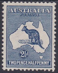 AUSTRALIA 1913 KANGAROO 21/2D 1ST WMK
