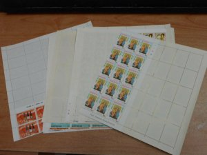 BRITISH ANTIGUA 8 MINT NEVER HINGED UNMOUNTED SHEETS COLLECTION LOT