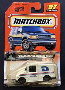 Matchbox Postal Service Delivery Truck on original retail card