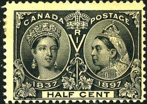Canada #50 MINT OG HR