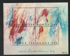 Norway Sc 947 1989 Stamp Day Painting stamp sheet mint NH