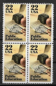 1985 USA 2159 Public Education MNH Block of 4
