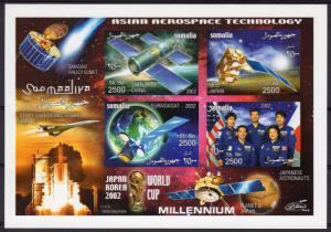 Somalia 2002 Asian Aerospace/Halley's Comet/CONCORDE/WORLD CUP Shlt.IMPERF.MNH