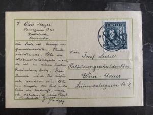 1939 Bratislava Slovakia PostCard  Cover To Vienna Austria