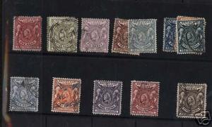British East Africa #72 - #87 VF Used Set