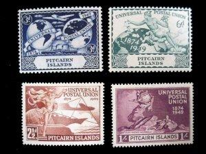 PITCAIRN ISLANDS - SCOTT# 13-16 - CS - MLH - OG - CAT VAL $18.50