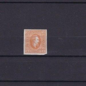 ROMANIA 1865 2p MOUNTED MINT  IMPERF STAMP CAT £75 R3945