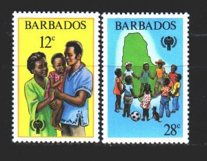 Barbados. 1979. 489-90 from the series. UNICEF children. MNH.