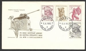 Doyle's_Stamps: 1952 Czechoslovakian FDC Jan Zizka & Army Day