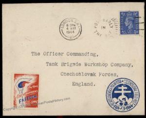 Great Britain Czech Legion in England Cover Polni Posta Feldpost 72198