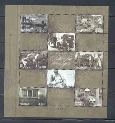 Norway Sc 1235a 1999 everyday life stamp sheet mint NH