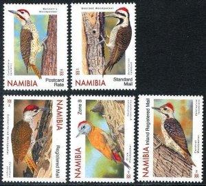 2021 Namibia Woodpeckers (5)  (Scott NA) MNH