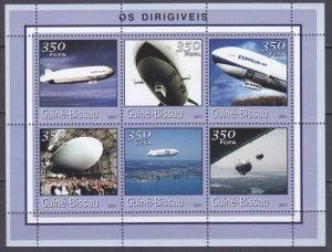 2001 Guinea Bissau 1773-1778KL Zeppelin 9,00 €