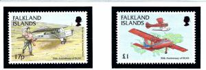 Falkland Is 714-15 MNH 1998 Air Medical Services