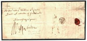 GB FREE PARLIAMENTARY Wandsworth BISHOP MARKS 1719 {samwells-covers} P143