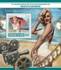 NIGER - 2017 - Marilyn Monroe, 55th Death Anniv - Perf Souv Sheet - MNH