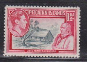 PITCAIRN ISLANDS Scott # 3 MH - KGVI With John Adams & His House