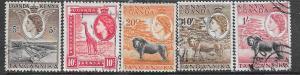 Kenya-Uganda-Tanganyika #103,104,107,109,112 (U) CV$2.40