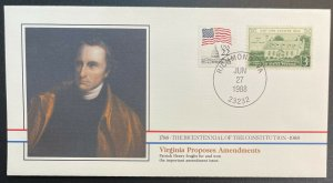 US #1108,2115 On Cover - Bicentennial of Constitution 1787-1987 [BIC58]