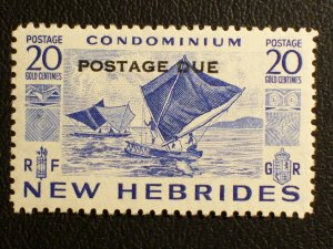New Hebrides (British) Scott #J13 unused