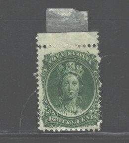 CANADA - NOVA SCOTIA  1860 - 1863 #12a MH  REMANANT  GUM