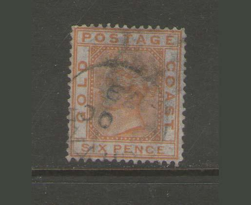 Gold Coast 1876 QV SG 8 FU