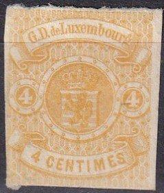 Luxembourg #6  Unused  CV $175.00  (Z6175)