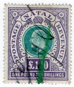 (I.B) Natal Revenue : Duty Stamp £1 10/-