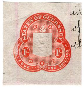 (I.B) Guernsey Revenue : Impressed Duty 1/-