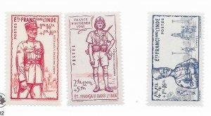 France Dans L'inde #B12-13A MH - Stamp - CAT VALUE $3.75