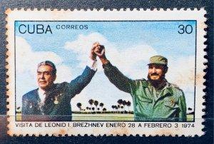 CUBA 1974 SC#1880 Brezhnev Castro Visit MNH