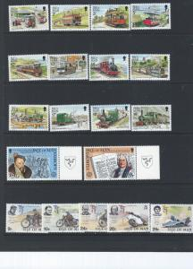 ISLE OF MAN 105 STAMPS  MINT GROUP SCV $49.55 SELL @ 25%  OF CAT VALUE