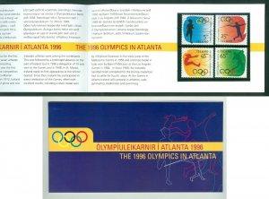 Iceland. 1996 Folder, Olympics In Atlanta. Mnh.  Sc#.824-27.