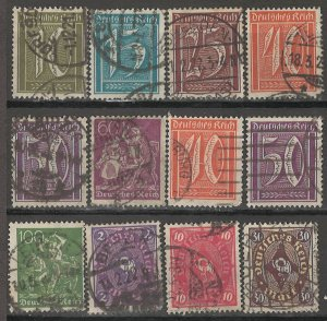 COLLECTION LOT # 5033 GERMANY  12 STAMPS 1921+ CV+$22
