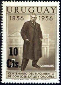 President Jose Battle Ordonez, Birth Cent., Uruguay SC#627 MNH