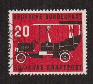 Germany  #728  used  1955  postal motor-bus service