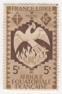 French Equatorial Africa, Scott #142 (1), MH