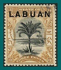 Labuan 1897 Palm Tree, p 14, cancelled  #74,SG91