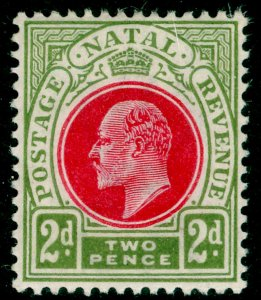SOUTH AFRICA - Natal SG130, 2d red & olive-green, LH MINT.