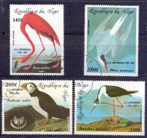Niger. 1985. 920-23. Odabon Birds. USED.