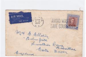 new zealand  1949 airmail  stamps  cover  ref r14688
