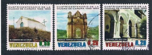 Venezuela 947-50 Short Set - 950 Used Churches (V0250)