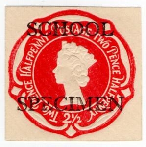 (I.B) Elizabeth II Postal : School Specimen Overprint 2½d