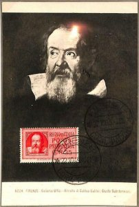 90045 - ITALY - Postal History - MAXIMUM CARD - 1945  Galileo GALILEI Physics