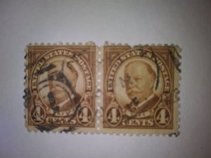 SCOTT #685 TAFT FOUR CENT USED TWIN FREE SHIPPING