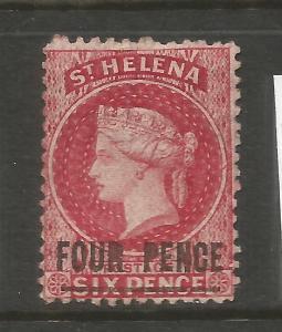 ST HELENA  1884-90   4d  QV  MLH   P12 1/2    SG 13