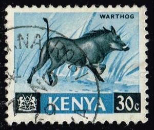 Kenya #24 Warthog; Used (0.25)