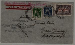 Argentina/Germany Zeppelin cover folded 14.9.32