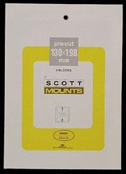 Scott Mounts Clear, 130/198  mm (pkg 5) (00999C)